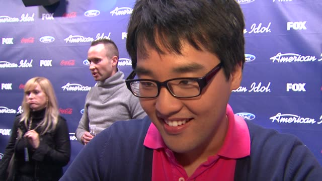 heejun han on how it feels to be here tonight at meet the american idol judges finalists on 3/1/2012 in los angeles ca - american idol stock videos and b-roll footage
