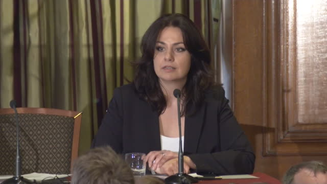 heidi allen at q and a at press conference to explain why they are defecting from the conservative party and joining the independent group / change... - heidi allen stock videos & royalty-free footage