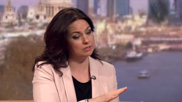heidi allen explaining why she supported conservative party austerity measures in 2015 - parlamentsmitglied stock-videos und b-roll-filmmaterial