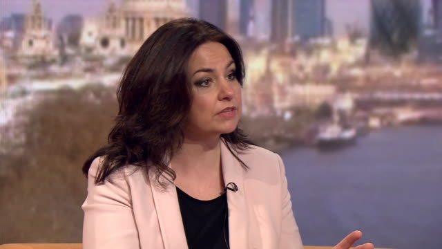 stockvideo's en b-roll-footage met heidi allen saying her gut instinct would be no when asked if she was in favour of renationalising the water and railway industries - britse labor partij