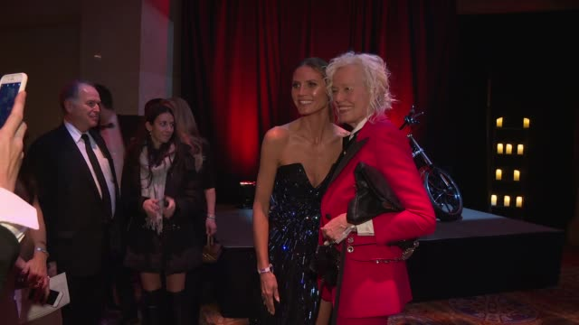 heidi klum and ellen von unwerth at 20th annual amfar gala new york at cipriani wall street on february 07 2018 in new york city - amfar stock videos & royalty-free footage