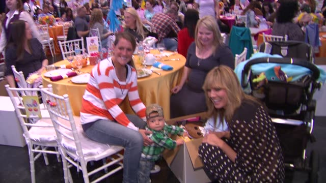 heidi klum and guests at the babies r us throws a #trulyscrumptious operation shower event hosted by heidi klum at the globe theatre at universal... - heidi klum stock videos and b-roll footage