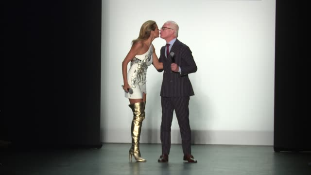 heidi klum and timm gunn walk the runway at project runway september 2016 new york fashion week at the arc skylight at moynihan station on september... - heidi klum stock videos and b-roll footage
