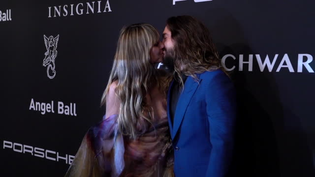 heidi klum and tom kaulitz at the gabrielle's angel foundation for cancer research 2019 angel ball at cipriani wall street on october 28 2019 in new... - cipriani manhattan stock videos & royalty-free footage