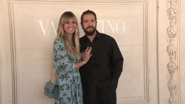 heidi klum and tom kaulitz at the photocall for the valentino fall winter 2020 haute couture fashion show in paris paris france on wednesday july 3... - heidi klum stock videos and b-roll footage