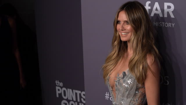 heidi klum at 21st annual amfar gala new york at cipriani wall street on february 06 2019 in new york city - gala stock videos & royalty-free footage