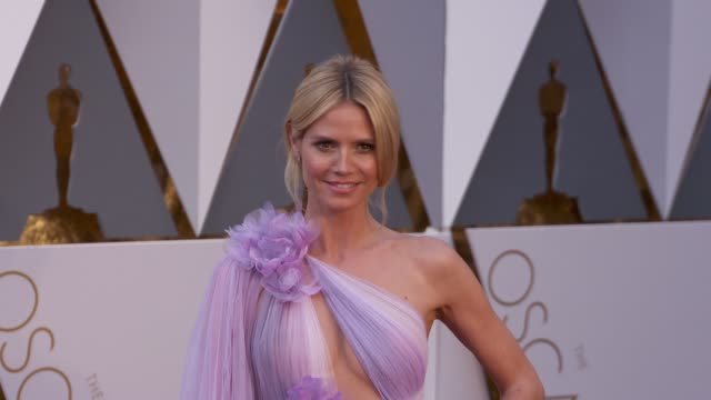 heidi klum at 88th annual academy awards arrivals at hollywood highland center on february 28 2016 in hollywood california 4k - heidi klum stock videos and b-roll footage