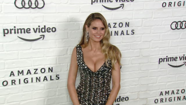 heidi klum at amazon prime video post emmy awards party 2019 at chateau marmont on september 22, 2019 in los angeles, california. - emmy awards stock-videos und b-roll-filmmaterial