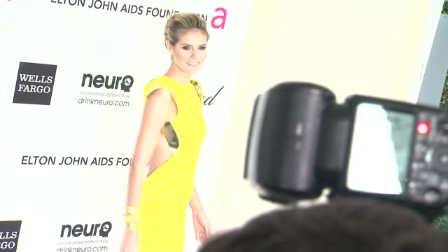 heidi klum at elton john aids foundation celebrates 20th annual academy awards viewing party on 2/26/12 in hollywood ca - heidi klum stock videos and b-roll footage
