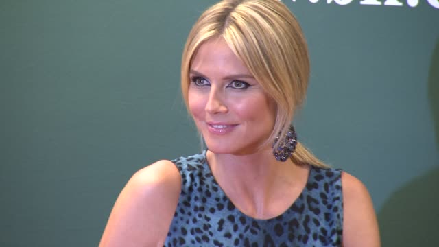 heidi klum at heidi klum signs copies of project runway the show that changed fashion at barnes noble 5th avenue on july 13 2012 in new york new york - barnes & noble stock videos & royalty-free footage