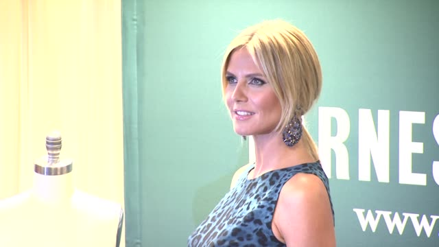 heidi klum at signs copies of project runway the show that changed fashion at barnes noble 5th avenue on july 13 2012 in new york new york - barnes & noble stock videos & royalty-free footage