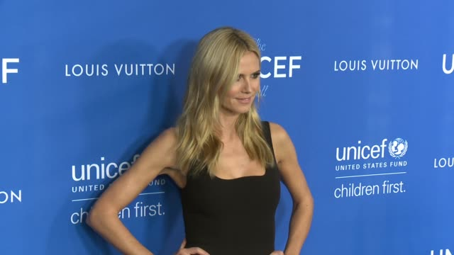 heidi klum at sixth biennial unicef ball honoring david beckham and cl max mikias presented by louis vuitton in los angeles ca - unicef stock videos & royalty-free footage