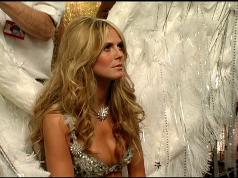 Heidi Klum at the 10th Victoria's Secret Fashion Show Backstage at the Armory in New York New York on November 9 2005