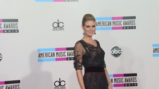 heidi klum at the 2010 american music awards arrivals at los angeles ca - american music awards stock videos and b-roll footage