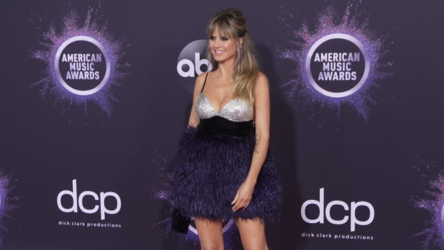 heidi klum at the 2019 american music awards at microsoft theater on november 24 2019 in los angeles california - american music awards stock videos & royalty-free footage