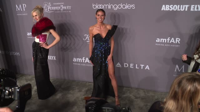 heidi klum at the 20th annual amfar gala new york at cipriani wall street on february 07 2018 in new york city - amfar stock videos & royalty-free footage