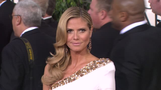 Heidi Klum at the 70th Annual Golden Globe Awards Arrivals in Beverly Hills CA on 1/13/13