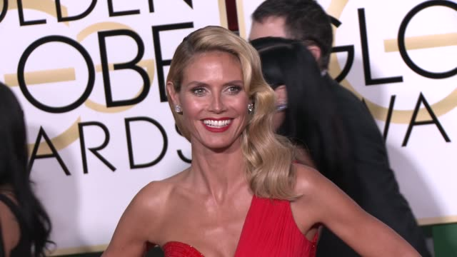 heidi klum at the 72nd annual golden globe awards arrivals at the beverly hilton hotel on january 11 2015 in beverly hills california - heidi klum stock videos and b-roll footage