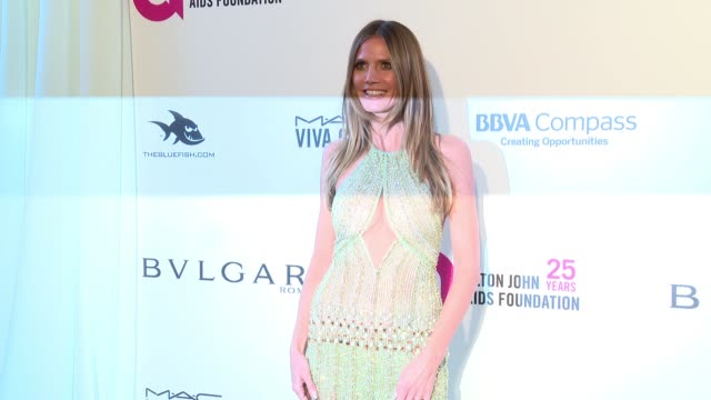 Heidi Klum at the Elton John AIDS Foundation Presents the 26th Annual Academy Awards Viewing Party on March 04 2018 in West Hollywood California