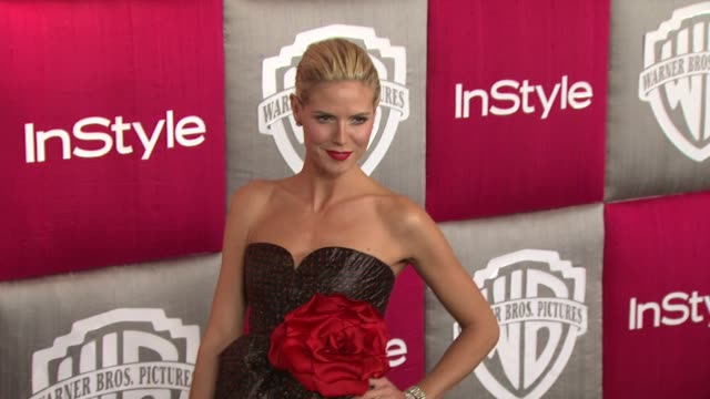 heidi klum at the in style and warner bros studios 10th annual golden globes afterpart at los angeles ca - 2009 stock-videos und b-roll-filmmaterial