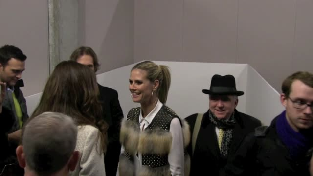 heidi klum at the kenneth cole show at mercedes-benz fashion week - fall 2013, 02/07/13. heidi klum at the kenneth cole show at mercedes-be on... - mercedes benz fashion week stock videos & royalty-free footage