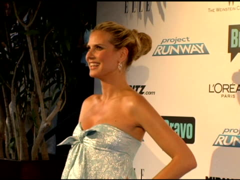 heidi klum at the 'project runway' season three launch party at buddha bar in new york, new york on july 11, 2006. - ブッダバー点の映像素材/bロール