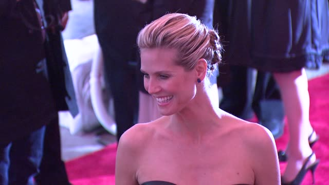 heidi klum at the 'the model as muse embodying fashion' costume institute gala at the metropolitan museum of art arrivals at new york ny - heidi klum stock videos and b-roll footage