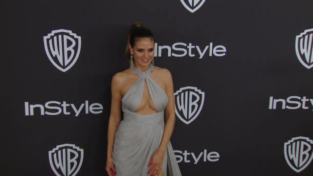 heidi klum at the warner bros. and instyle host 20th annual post-golden globes party at the beverly hilton hotel on january 06, 2019 in beverly... - heidi klum stock videos & royalty-free footage