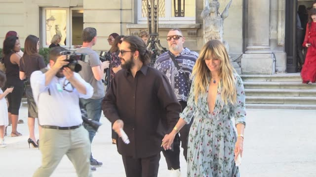 heidi klum attends the valentino haute couture fall/winter 2019 2020 show as part of paris fashion week on july 03, 2019 in paris, france. - heidi klum stock videos & royalty-free footage