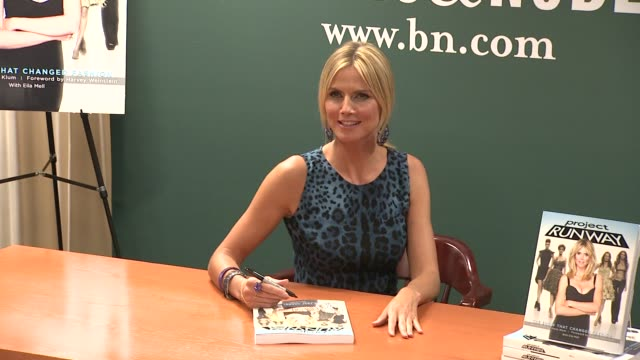 heidi klum heidi klum signs copies of project runway the show that changed fashion at barnes noble 5th avenue on july 13 2012 in new york new york - barnes & noble stock videos & royalty-free footage