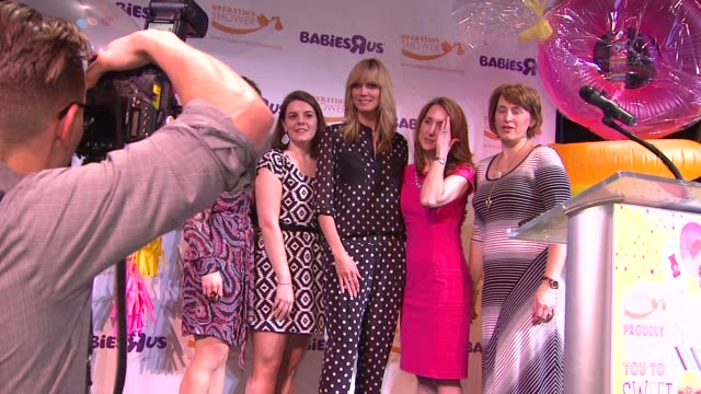 heidi klum leann morrissey and guests at the babies r us throws a #trulyscrumptious operation shower event hosted by heidi klum at the globe theatre... - heidi klum stock videos and b-roll footage