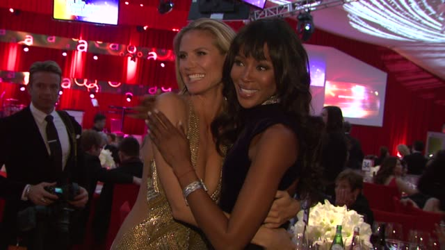 Heidi Klum Naomi Campbell at Elton John AIDS Foundation Presents 21st Annual Academy Awards Viewing Party Sponsored By Chopard Neuro Drinks And Wells...