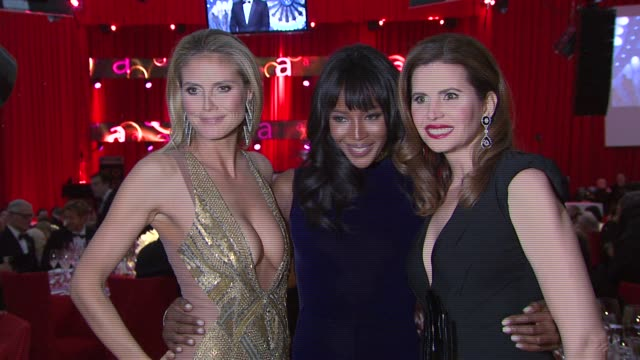 Heidi Klum Naomi Campbell Desiree Gruber at Elton John AIDS Foundation Presents 21st Annual Academy Awards Viewing Party Sponsored By Chopard Neuro...