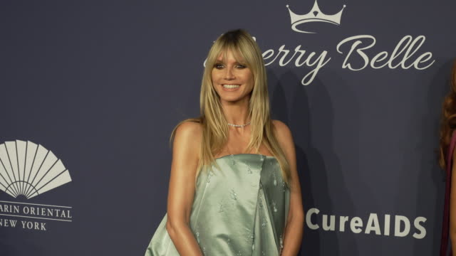 heidi klum on the work amfar does and her hopes for a cure at amfar gala new york 2020 at cipriani wall street on february 05, 2020 in new york city. - heidi klum stock videos & royalty-free footage