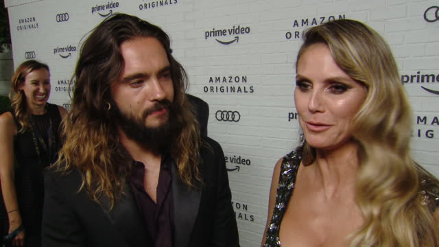 heidi klum on why she wanted to celebrate emmy's with amazon, her thoughts on the nights winners & fashions and what she's most looking forward to at... - emmy awards stock-videos und b-roll-filmmaterial