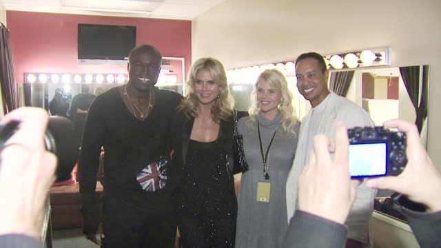 heidi klum seal tiger woods elin nordegren at the tiger woods block party at los angeles ca - tiger woods stock videos & royalty-free footage