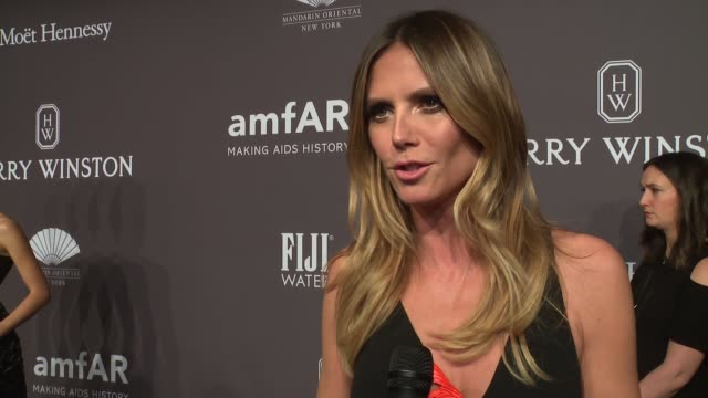 INTERVIEW Heidi Klum talks about all the hard work amfAR does at 19th Annual amfAR New York Gala at Cipriani Wall Street on February 08 2017 in New...