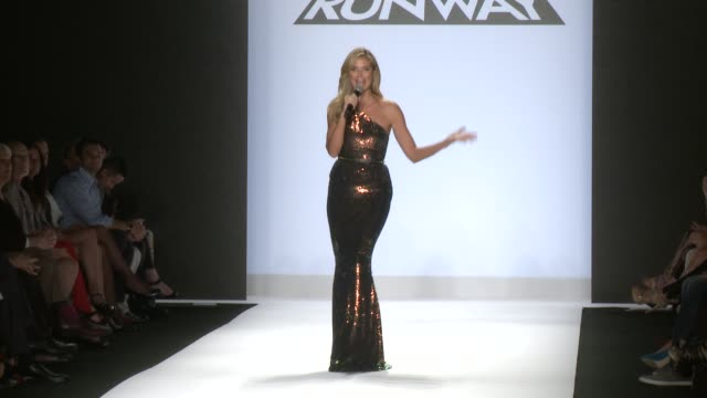 heidi klum thanks the audience at project runway runway spring 2014 mercedesbenz fashion week heidi klum thanks the audience at project runway at the... - project runway stock videos and b-roll footage