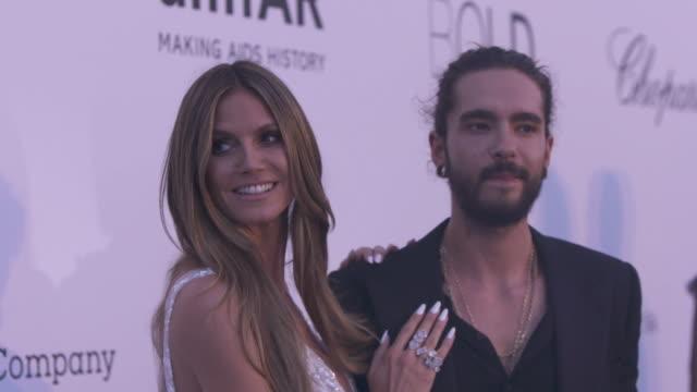 SLOMO Heidi Klum Tom Kaulitz at amfAR Gala Cannes 2018 at Hotel du CapEdenRoc on May 17 2018 in Cap d'Antibes France