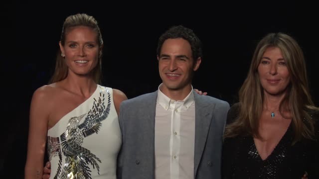 heidi klum zac posen nina garcia and zendaya walk the runway at project runway september 2016 new york fashion week at the arc skylight at moynihan... - heidi klum stock videos and b-roll footage