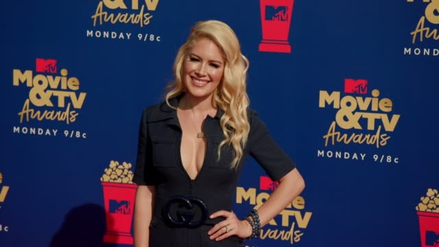heidi montag at the 2019 mtv movie tv awards at barkar hangar on june 15 2019 in santa monica california - mtv movie & tv awards stock videos & royalty-free footage