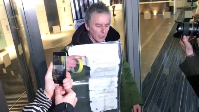 Heiko Khoo from Speaker's Corner makes a protest outside Cambridge Analytica office in London The board of Cambridge Analytica shortly announced it...