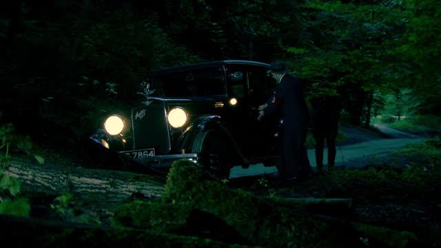 stockvideo's en b-roll-footage met heinrich himmler enters a car - nazi-era historic reenactment - heinrich himmler