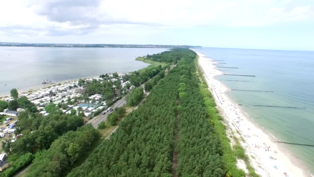 hel peninsula and baltic beach - peninsula stock videos and b-roll footage