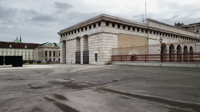 heldentor vienna - the hofburg complex stock videos & royalty-free footage