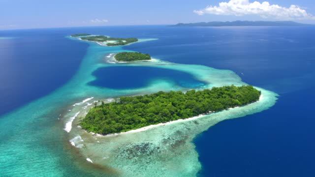 hele islands, marovo lagoon - 潟湖点の映像素材/bロール