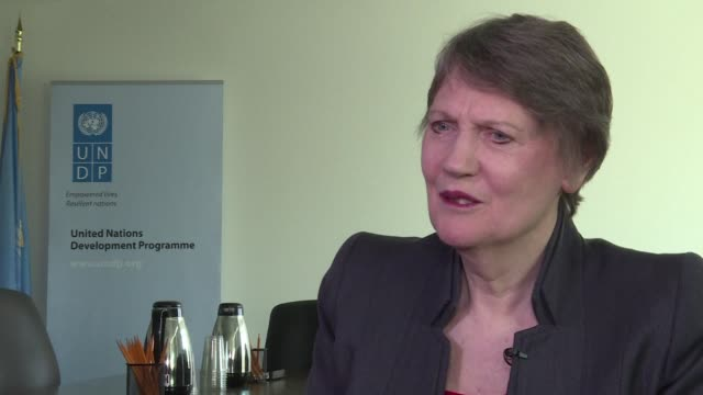 helen clark tipped as a possible successor to ban kimoon as un secretary general says the un's day will come to have a female in the top job though... - nachfolger stock-videos und b-roll-filmmaterial