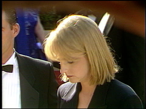 helen hunt at the 1993 emmy awards entrances at the pasadena civic auditorium in pasadena, california on september 19, 1993. - ceremony stock videos & royalty-free footage