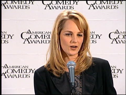 helen hunt at the american comedy awards at the shrine auditorium in los angeles, california on february 11, 1996. - shrine auditorium stock videos & royalty-free footage
