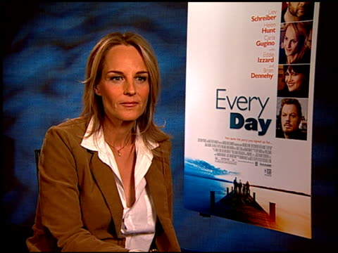 helen hunt on the film being partially autobiographical at the 'every day' junket at hollywood ca. - biografia video stock e b–roll